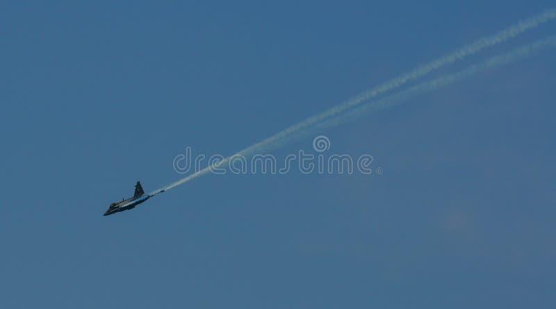 Vol de chasseurs pour l'affichage photo stock