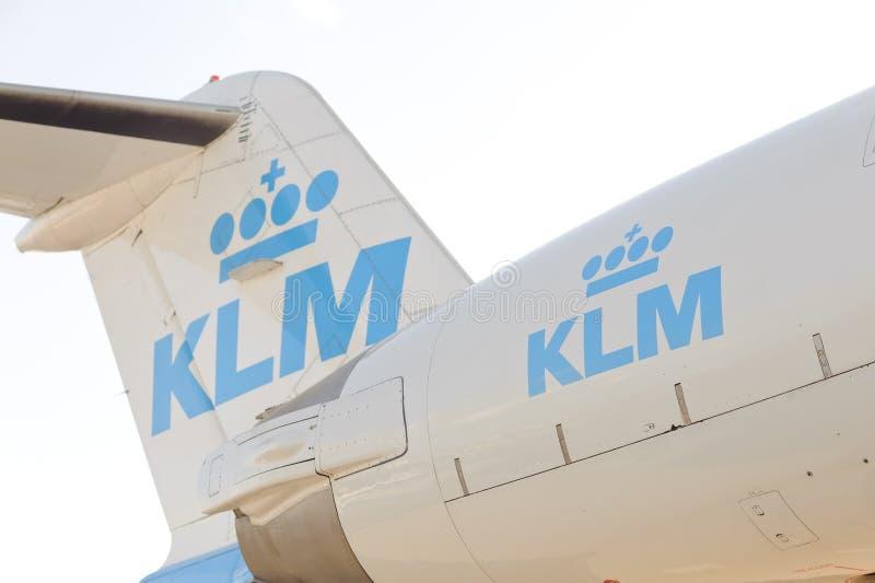 Vol de KLM photos libres de droits