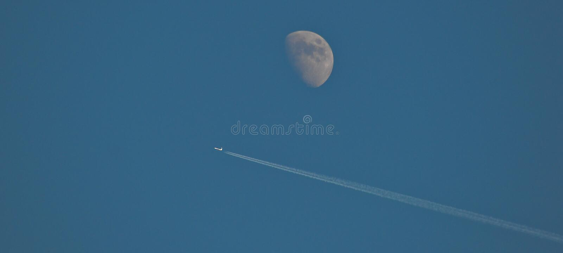 Vol de lune photo libre de droits