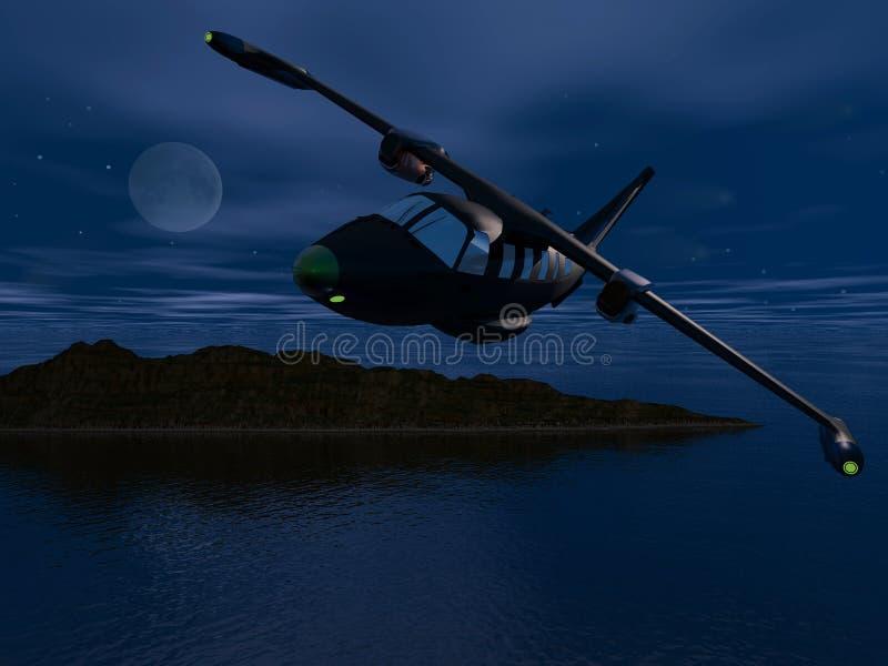 Vol de nuit illustration stock