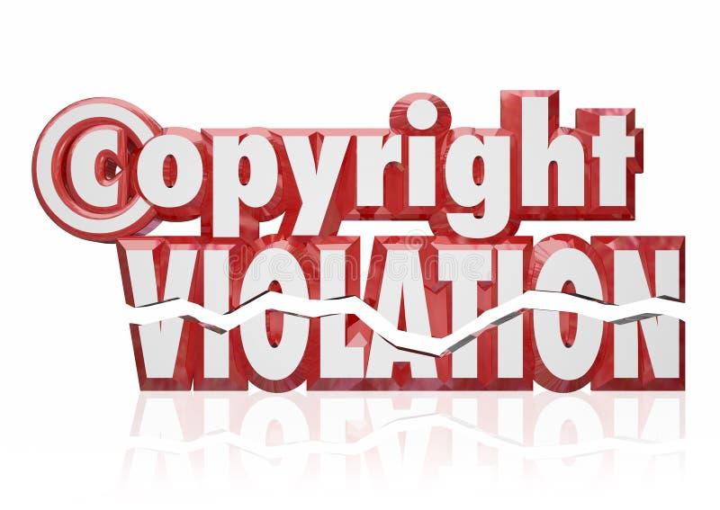 Vol de piraterie d'infraction de droits légaux de violation de copyrights illustration libre de droits