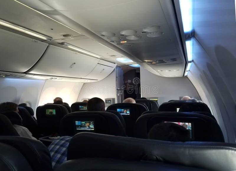 Vol de première classe images libres de droits