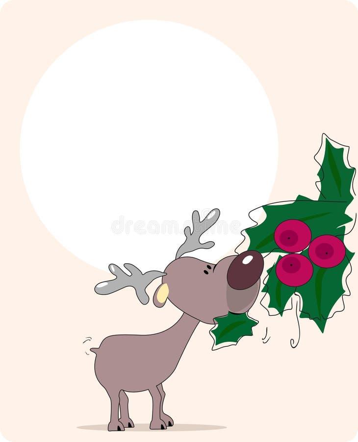 vol de renne de sucreries illustration de vecteur