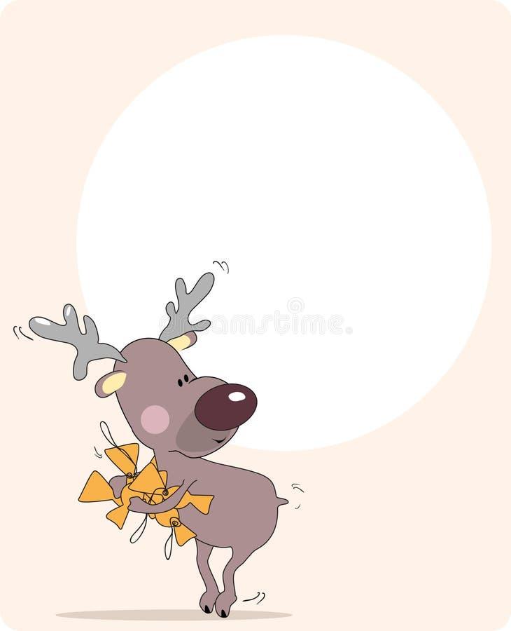 vol de renne de sucreries illustration libre de droits