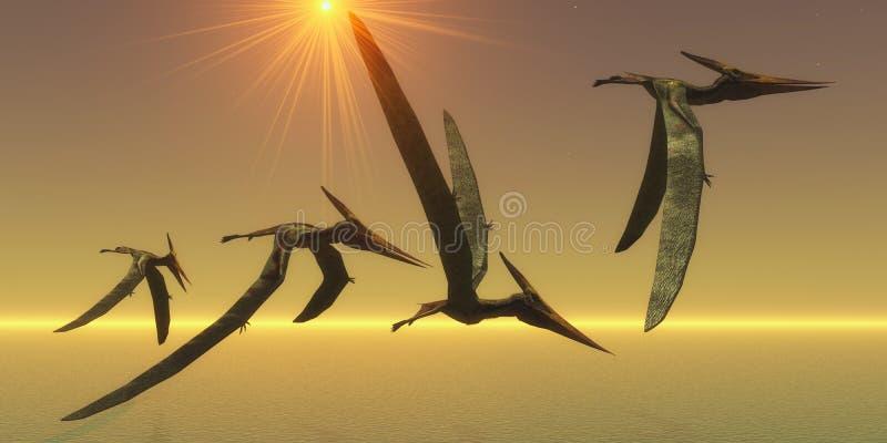 Vol de reptile de Pteranodon illustration stock
