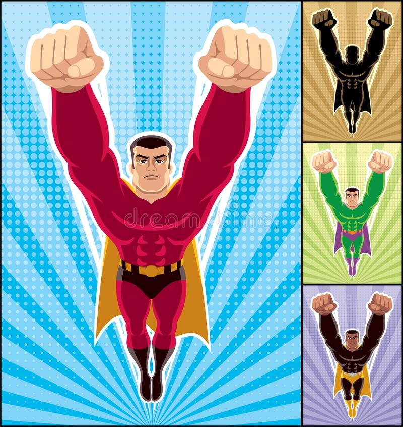 Vol de Superhero illustration stock