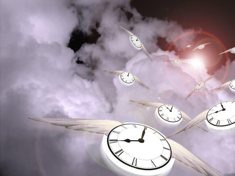 Vol de temps illustration libre de droits