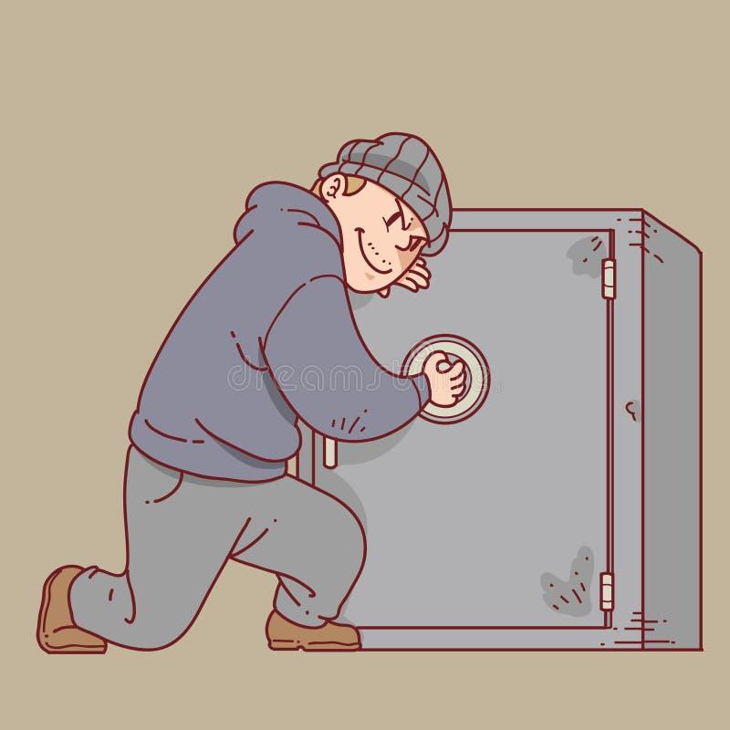 Vol de voleur illustration de vecteur