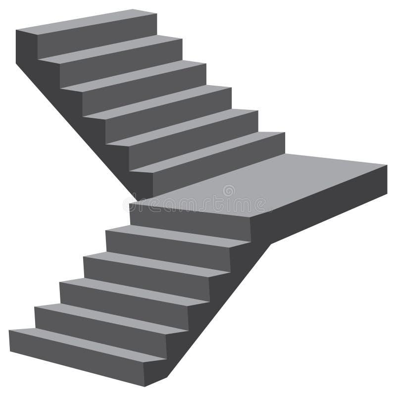 Vol des escaliers industriel illustration stock