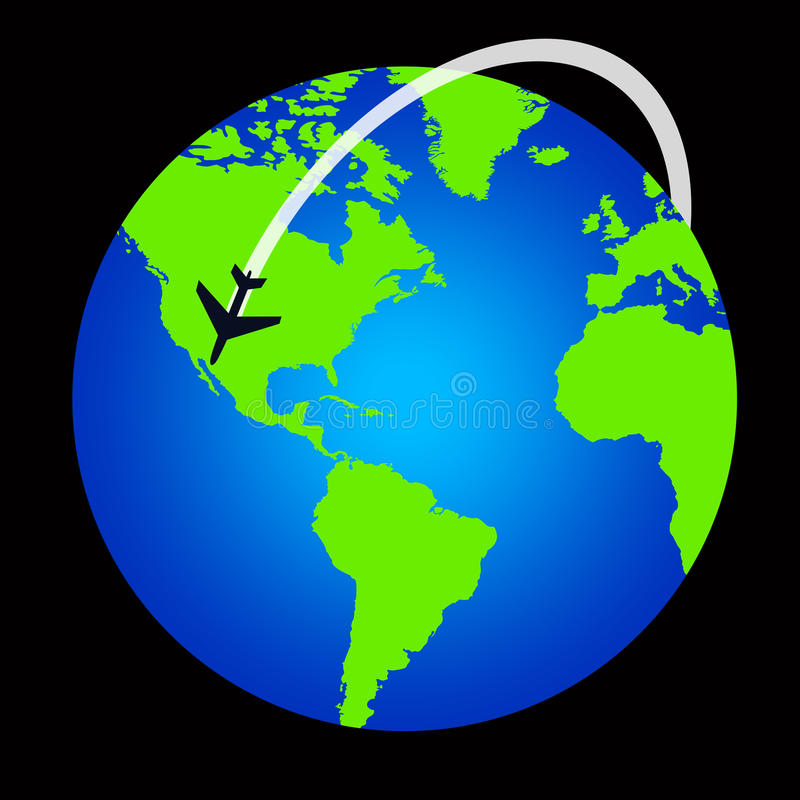 Vol du monde illustration libre de droits