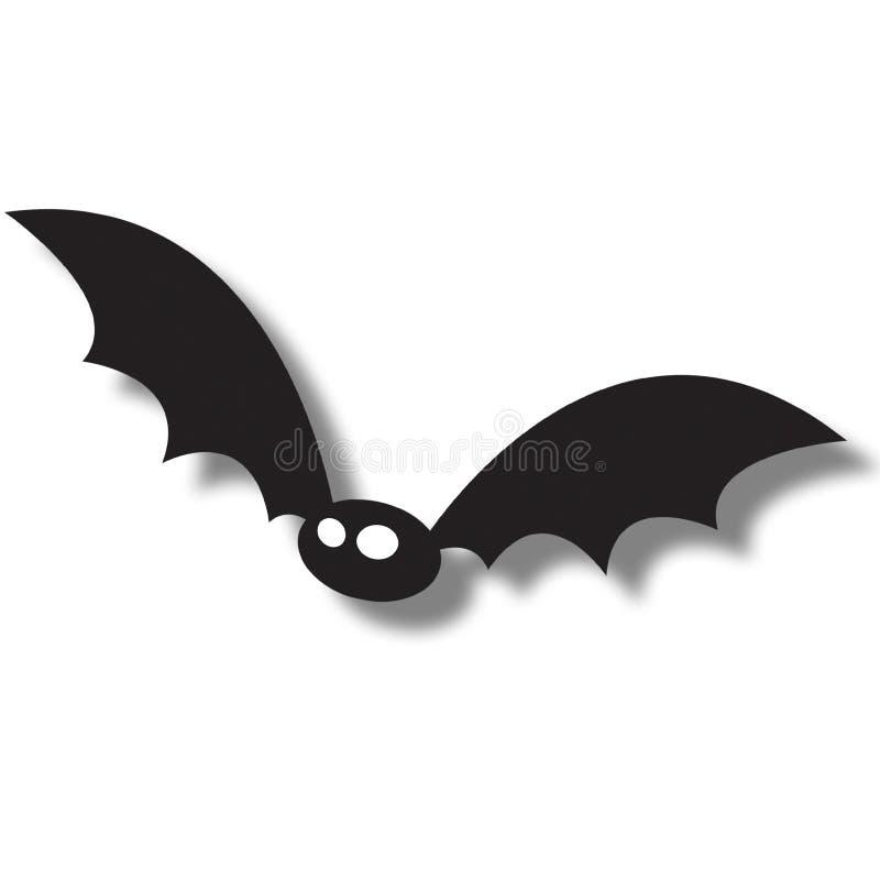vol noir de 'bat' illustration stock
