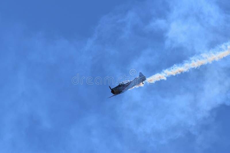 Vol par la fumée images libres de droits