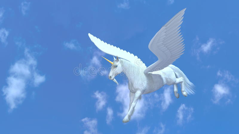Vol Pegasus illustration de vecteur