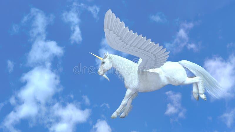 Vol Pegasus illustration stock