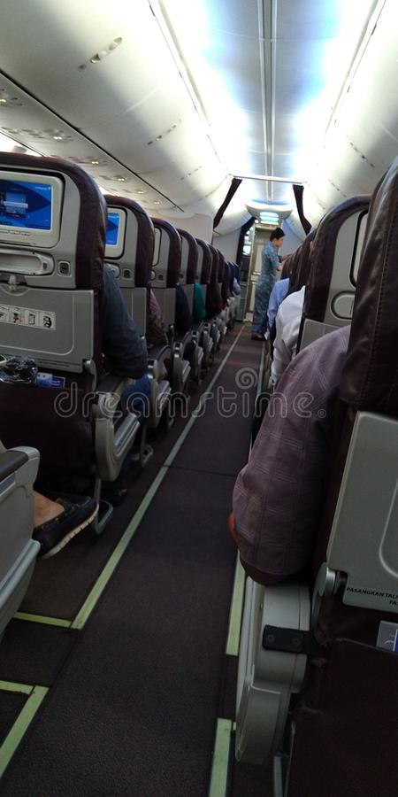 Vol plat avec l'hôtel royal de KLM dans nouveau photographie stock libre de droits