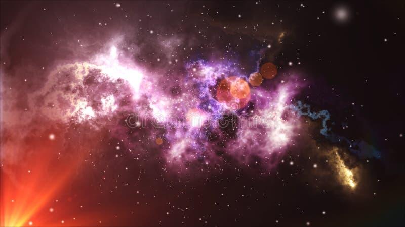 Vol spatial par la nébuleuse illustration de vecteur