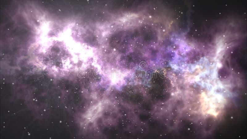Vol spatial par la nébuleuse illustration libre de droits