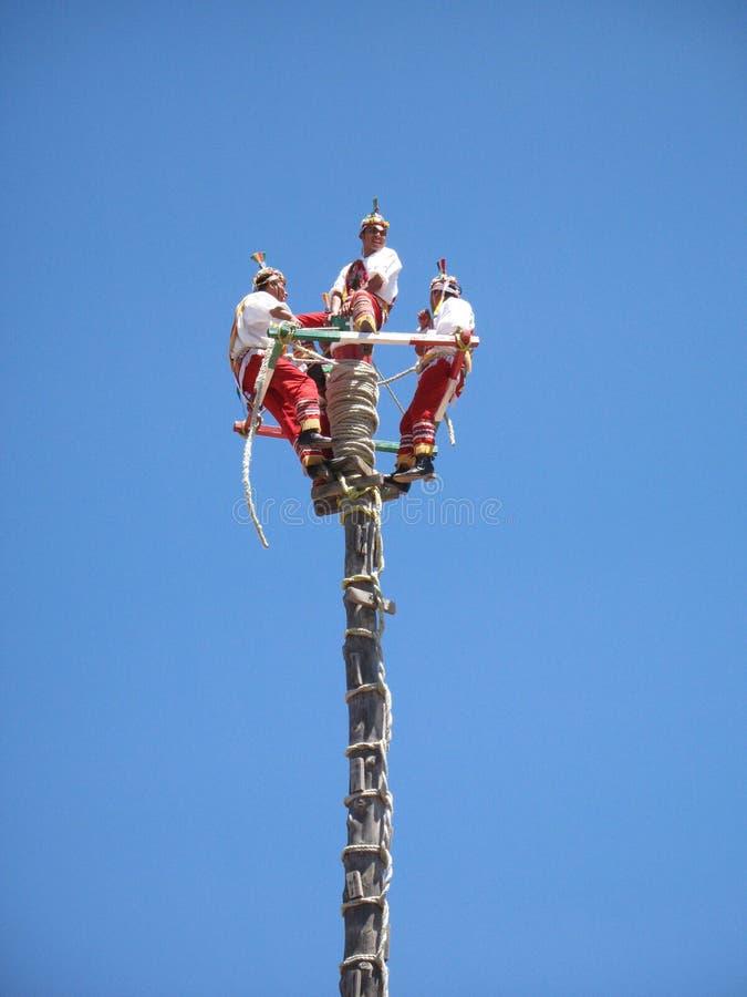 Voladores de Papantla,韦拉克鲁斯,墨西哥 库存图片