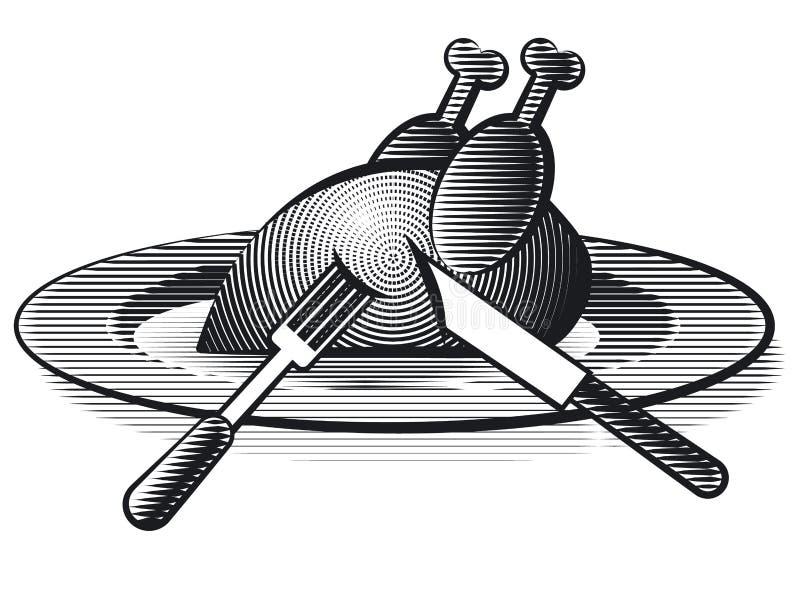 Volaille de poulet illustration de vecteur