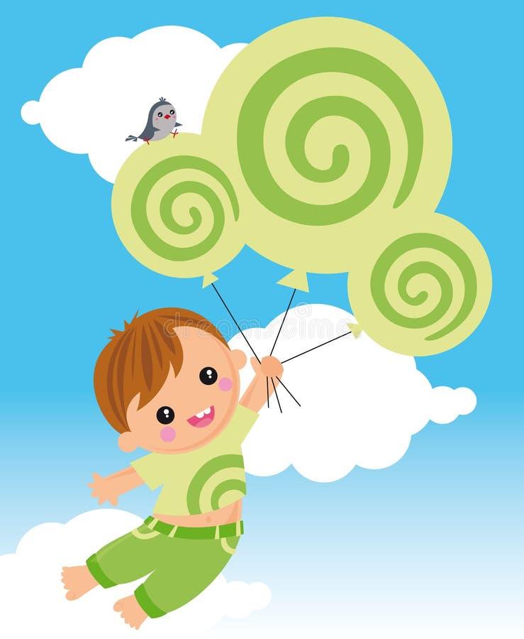 Volando con il dreamstime royalty illustrazione gratis