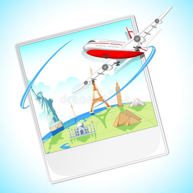Volando intorno al mondo royalty illustrazione gratis