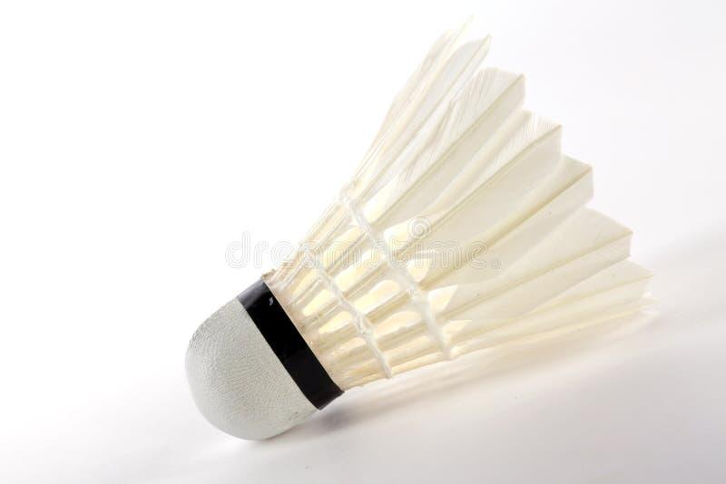 Volano, shuttlecock bianco fotografia stock libera da diritti