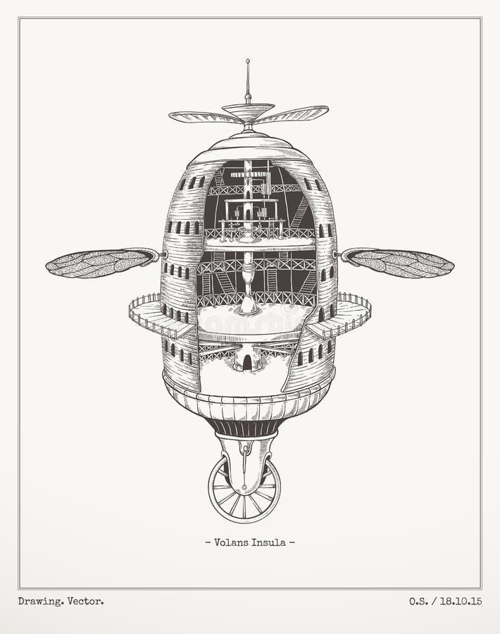 Volans Insula ilustracja wektor