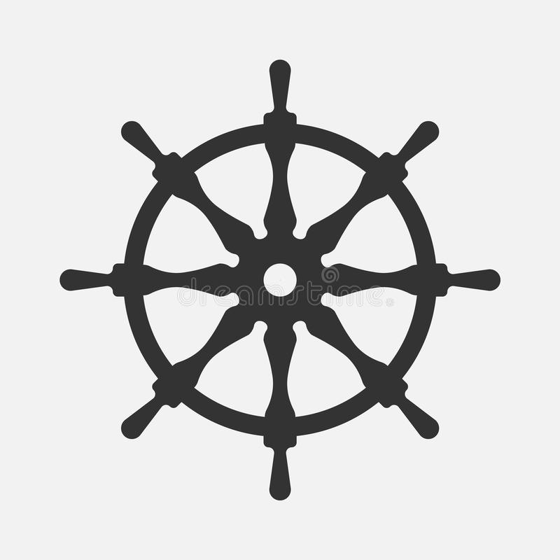 Volant de bateau d'isolement sur le fond blanc Illustration de vecteur illustration stock