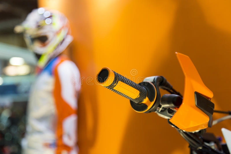 Volant de fin de levier de commande de commande de puissance de moto de motocross  photo stock