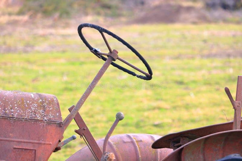 volant de tracteur de vintage photos stock