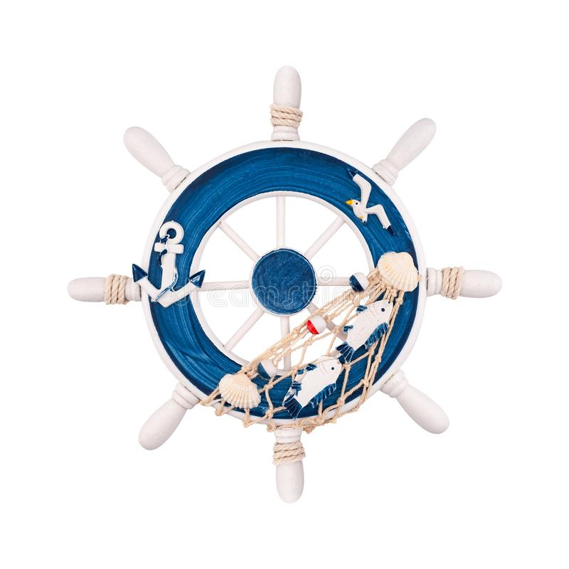 Volant marin décoratif d'isolement photo stock