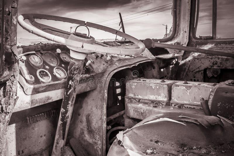 volante abandonado imagenes de archivo