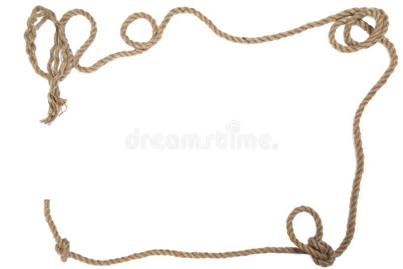 Volante con una corda su un fondo bianco immagine stock