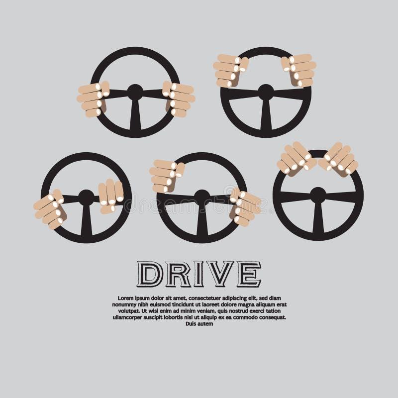 Volante dell'automobile. illustrazione vettoriale