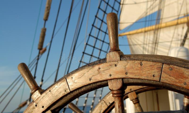 Volante della nave fotografie stock libere da diritti