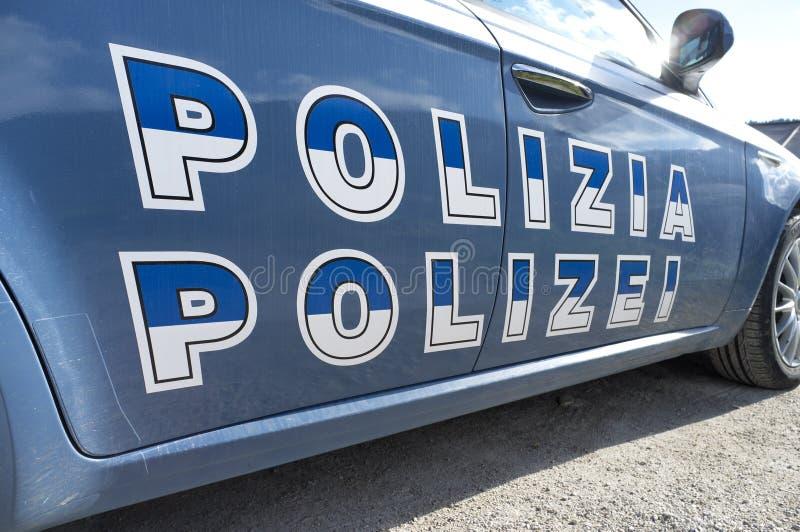 Volante della polizia di Sudtirol dell'italiano fotografia stock