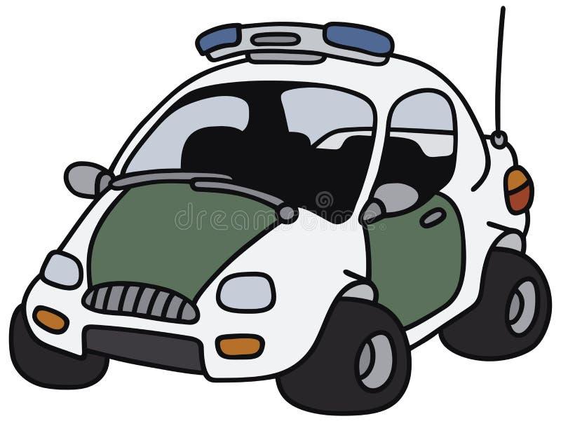 Volante della polizia divertente royalty illustrazione gratis