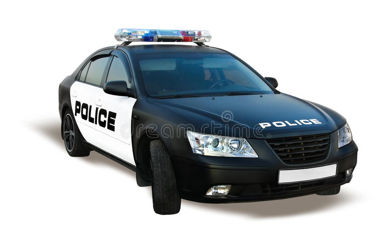 Volante della polizia isolato fotografia stock libera da diritti