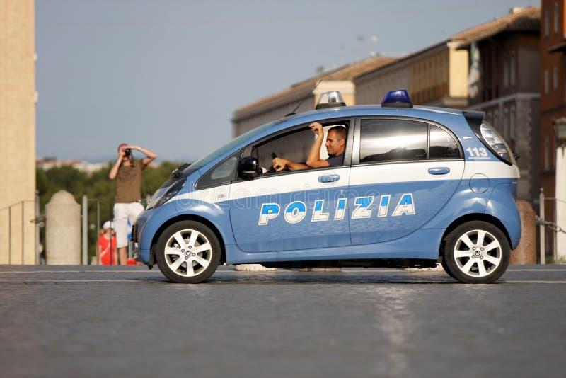 Volante della polizia nel centro di Roma (Città del Vaticano) fotografie stock