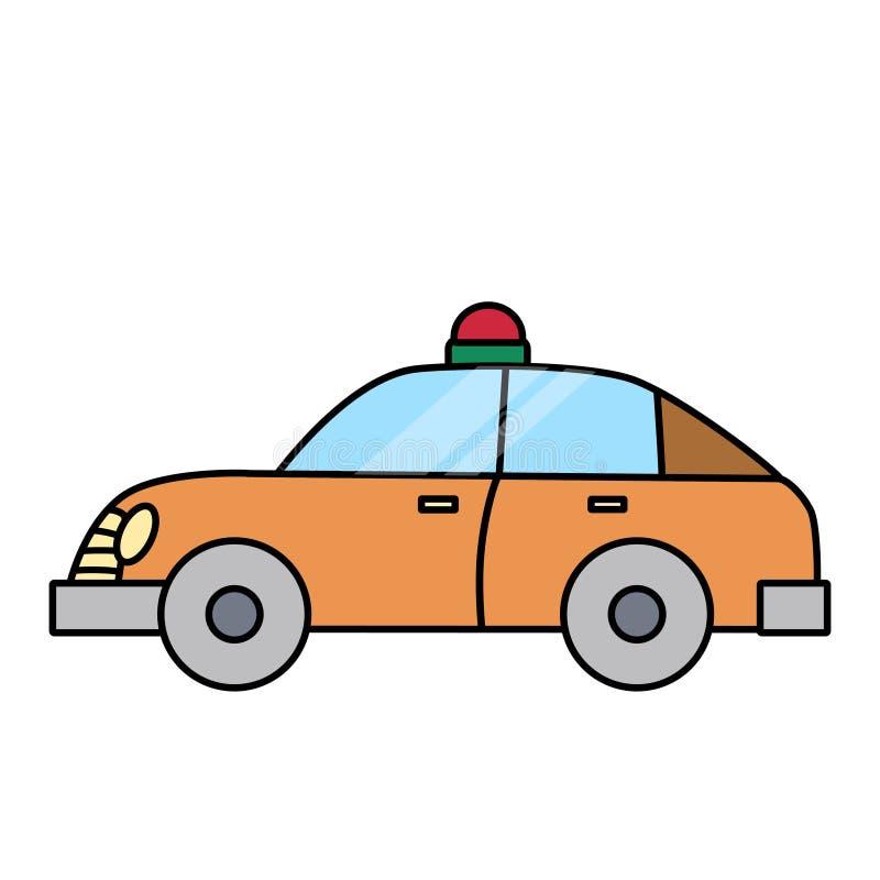Volante della polizia semplice lineare separato su spazio bianco royalty illustrazione gratis
