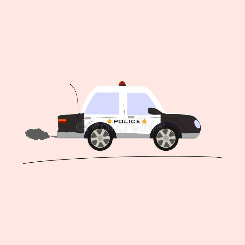 Volante della polizia su fondo rosa fotografia stock libera da diritti