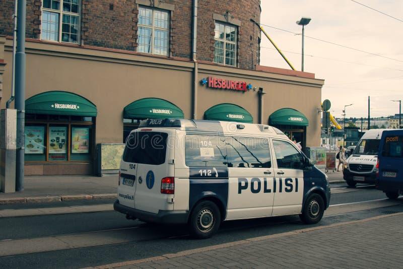 Volante della polizia sulle vie fotografie stock