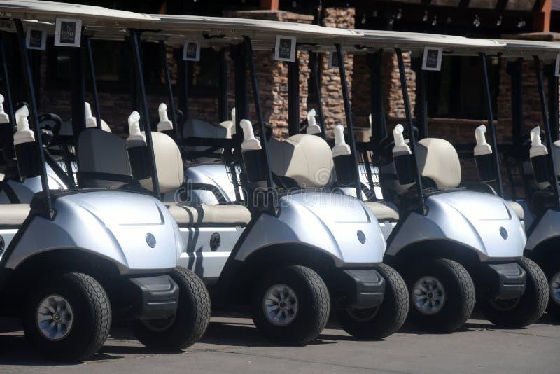 volante di golf secondo del fuoco dei carrelli fotografie stock libere da diritti