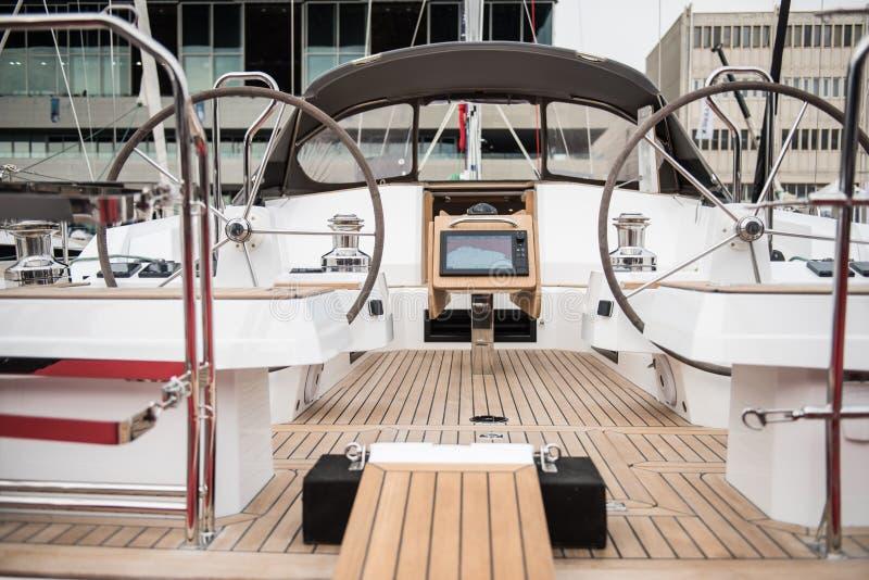 Volante do barco do véu imagens de stock royalty free