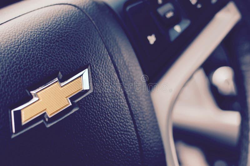 Volante nero di Chevrolet fotografia stock