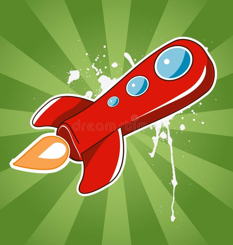 Volar el cohete rojo libre illustration