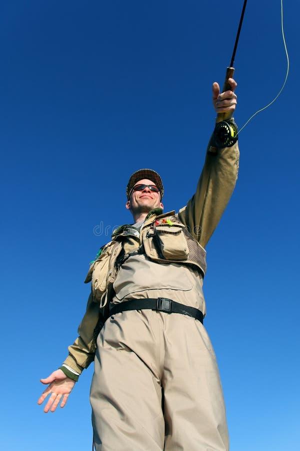 Volar-pescador fotos de archivo libres de regalías