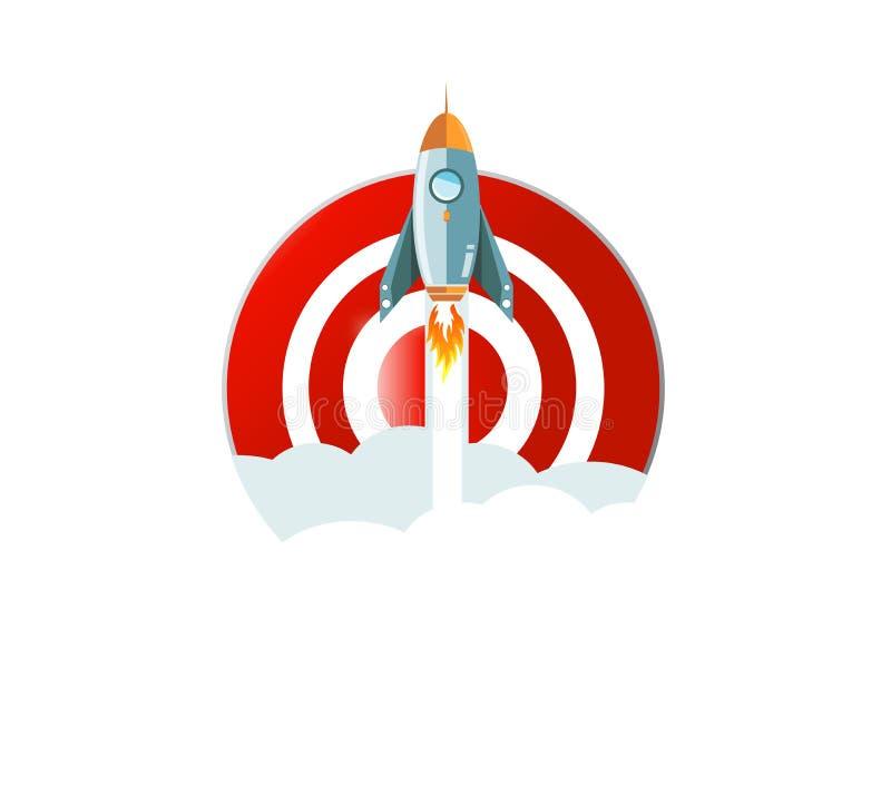 volare via la progettazione dell'illustrazione di concetto dell'obiettivo illustrazione di stock