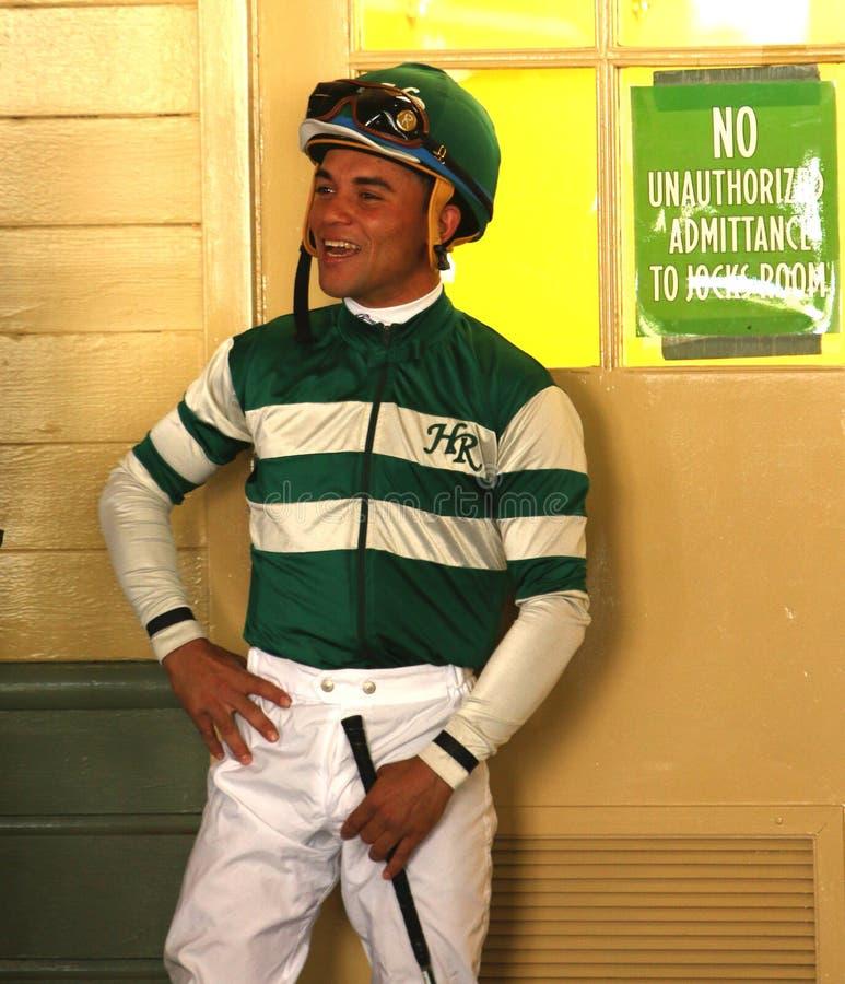 Volbloed- Jockey Joel Rosario stock foto