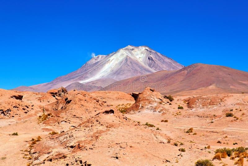 Volcán, Altiplano, Bolivia fotos de archivo